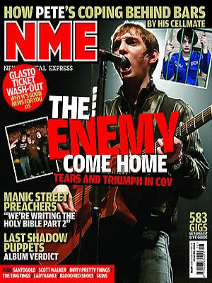nme magazine cover. I would like my music magazine